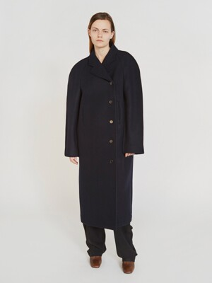 RAGLAN WOOL COAT (NAVY)
