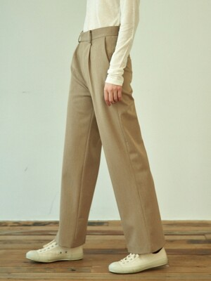 back slit pants (beige)