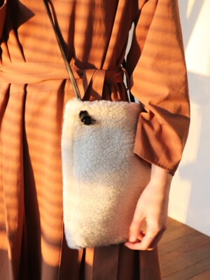 MIX FUR BAG - IVORY
