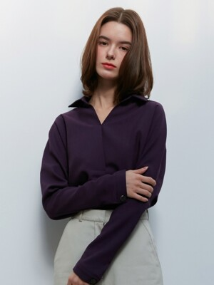 [By Joorti] J380 pull-over blouse (purple)
