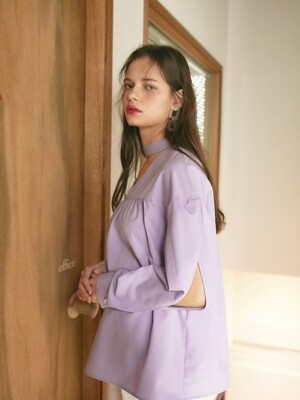 20SS 1ST CHOCKER BLOUSE_PURPLE