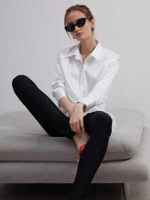 20SS TIED SILKY SHIRT - WHITE