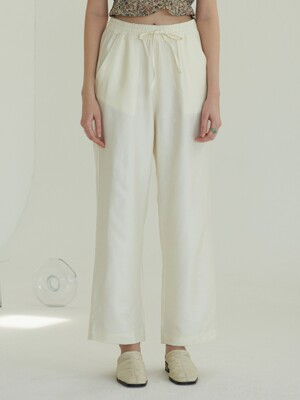 ONE POCKET BANDING PANTS (IVORY)