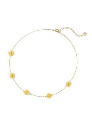 BEADS FLOWER CHOKER NECKLACE_NZ1036