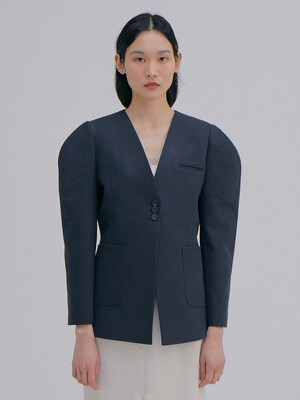 Round Sleeve Jacket_Navy