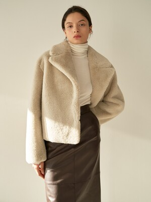 TTW ECO FUR COLLOR JACKET 2COLOR