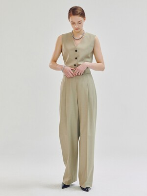 Mille Wool Two Tuck Pants