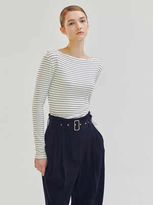 Co Stripe Boat-Neck T