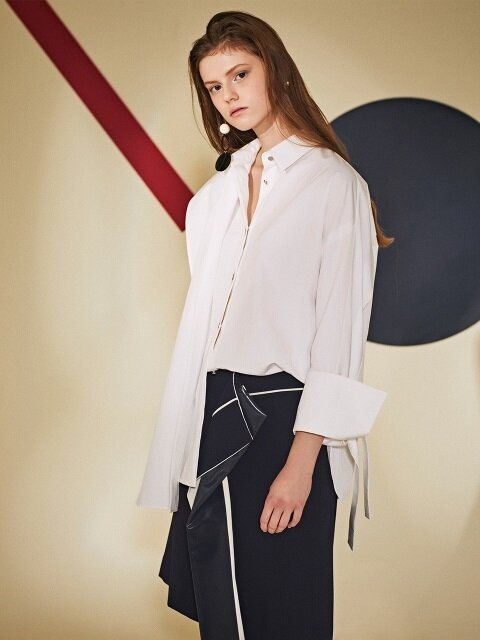 Front overlap Shirts Blouse