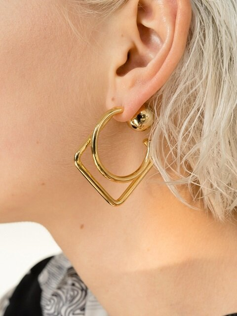 S.R Layered Earrings_Gold