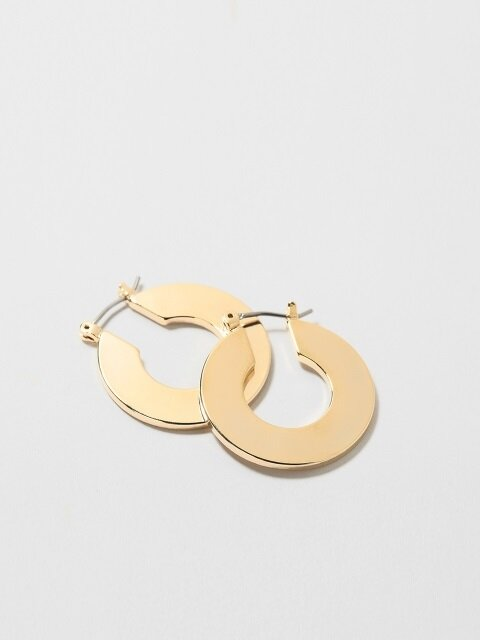 SIMPLE SIDE HOOP EARRING_L