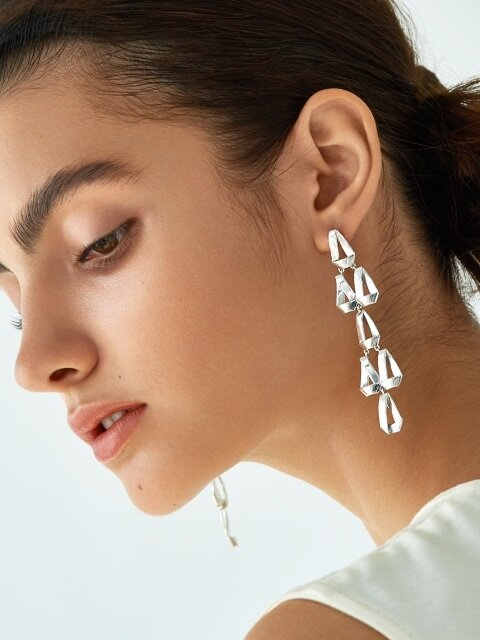 Tear Drop Chandelier Earrings L
