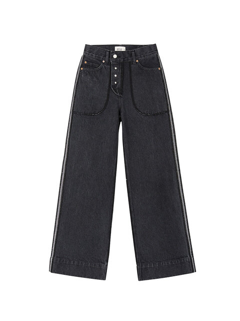 ADELINE INSIDE-OUT JEANS apa250w(Black)