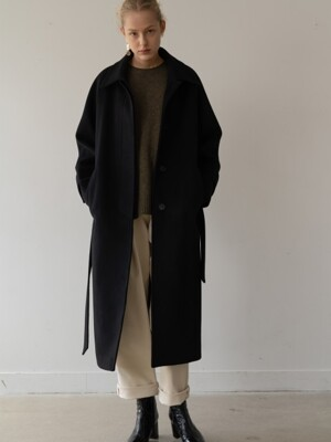 [ESSENTIAL] 캐시미어 Cashmere Single Coat Black