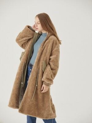 TEDDY WOOL LONG JUMPER [KHAKI BEIGE]
