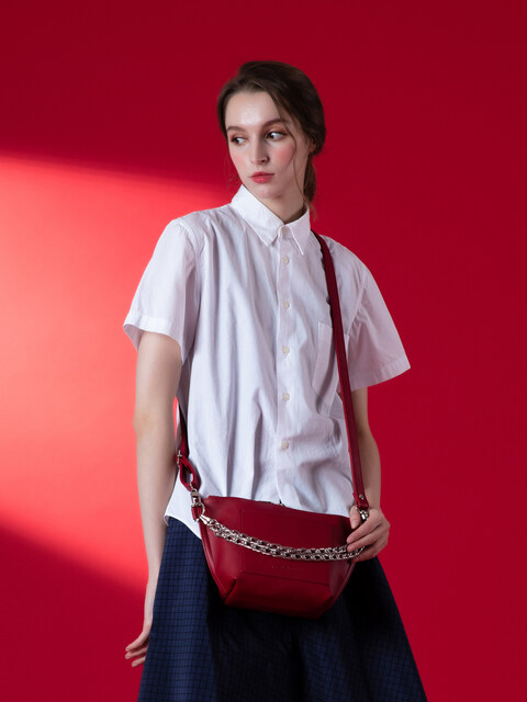 RAY chain shoulder bag (burgundy)