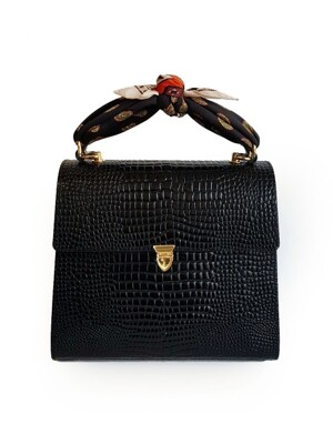 Mini Tote Bag 01 Croc Black