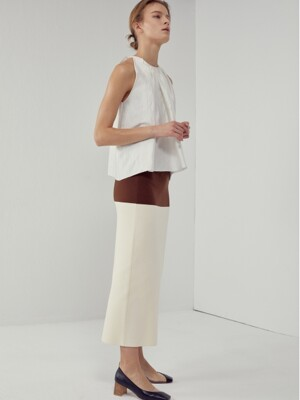 [FRONTROW X RECTO.] Color-block Knit Skirt