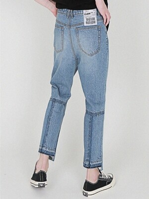 14OZ Denim damage crosse Jean