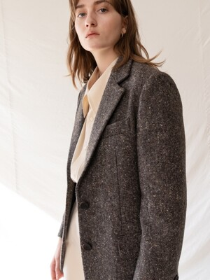 FW19 Moon british wool blazer brown