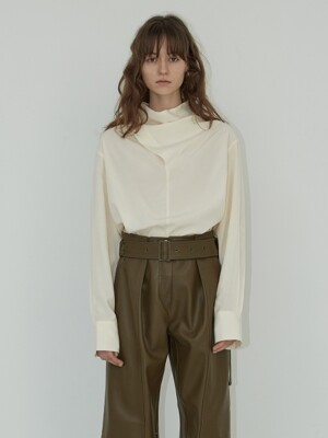 19FW COWL NECK SHIRTS - CREAM
