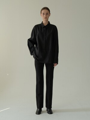 slim slacks (black)