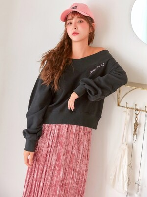 VELVET PLEATS LONG SKIRT / PINK