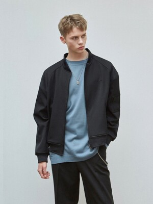 OVERSIZE SOFT BLOUSON JACKET_BLACK