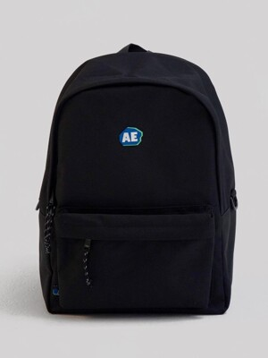 Stone logo backpack/ Noir
