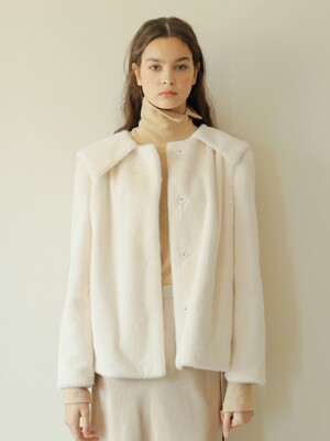 19FW SAILOR FUR COAT / IVORY