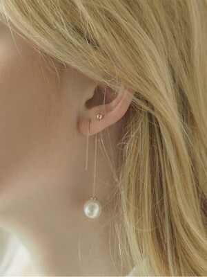 cl777 Seven Silver Pin Earring