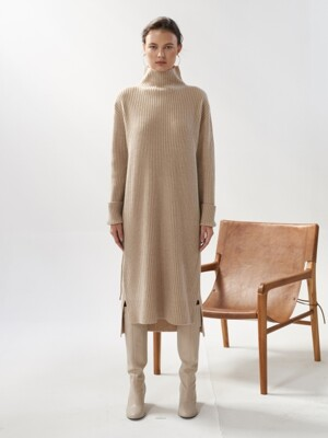 NTW CASHMERE PULLOVER KNIT DRESS 3COLOR