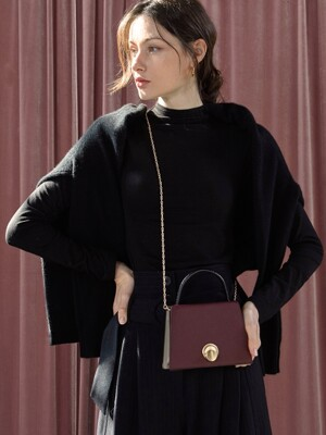 LOMEL MINI Micro Bag Maroon Burgundy