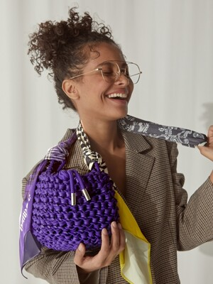 Cauliflower net bag-Purple