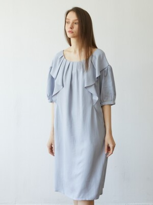 Wide Ruffle Dress_BLUE