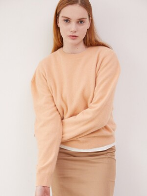 [BE:able] Raccoon blended pullover - Apricot