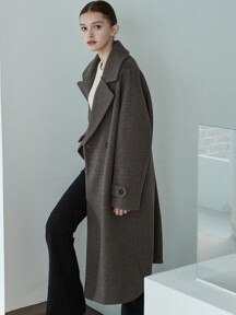 amr1167 double long coat (brown)
