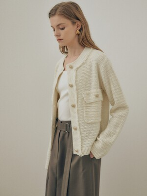Tweed Knit cardigan jacket SK1SD122-03