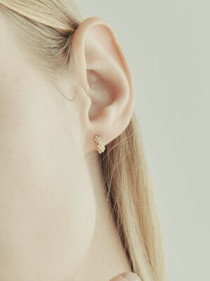 [단독] 14k gold triple flower onetouch earring (14k 골드) b06