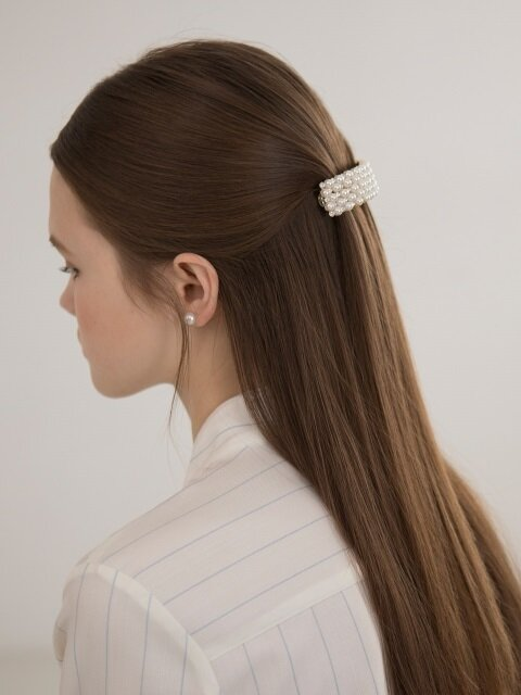 Pearl n Cubic Square Hairpin