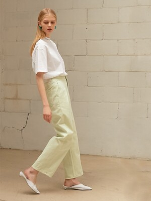 MINT DYEING WASHING SLIM WIDE PANTS