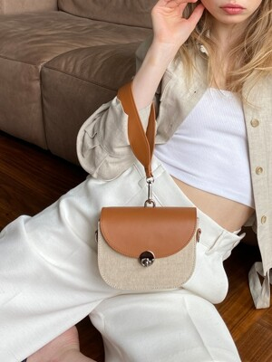 MINI SADDLE BAG - JUTE WHITE