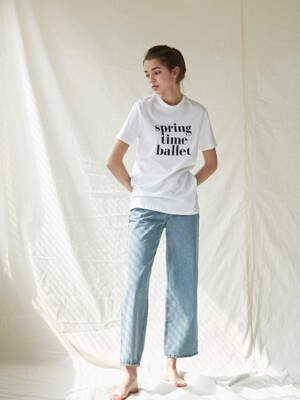 Spring Time Ballet T-shirts_White