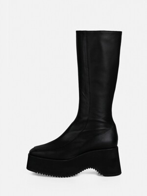 SOFT LONG BOOTS - BLACK