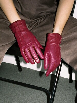 LEATHER GLOVES_DEEP PURPLE