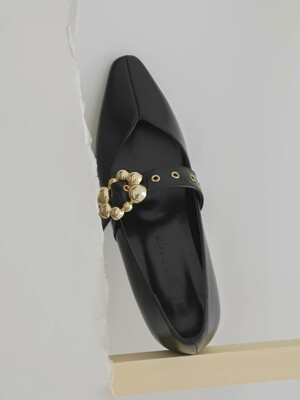 Gold Strapped Flat_Black