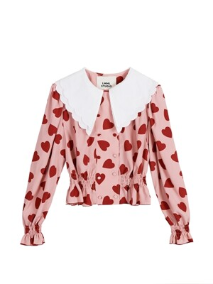 Lovers double button blouse - Big lovers pink