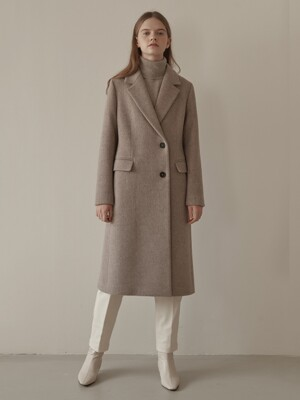 wool coat-mocha beige