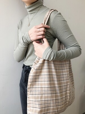vintage brown check bag