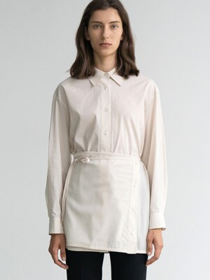 LAYERED COTTON SHIRT (IVORY)